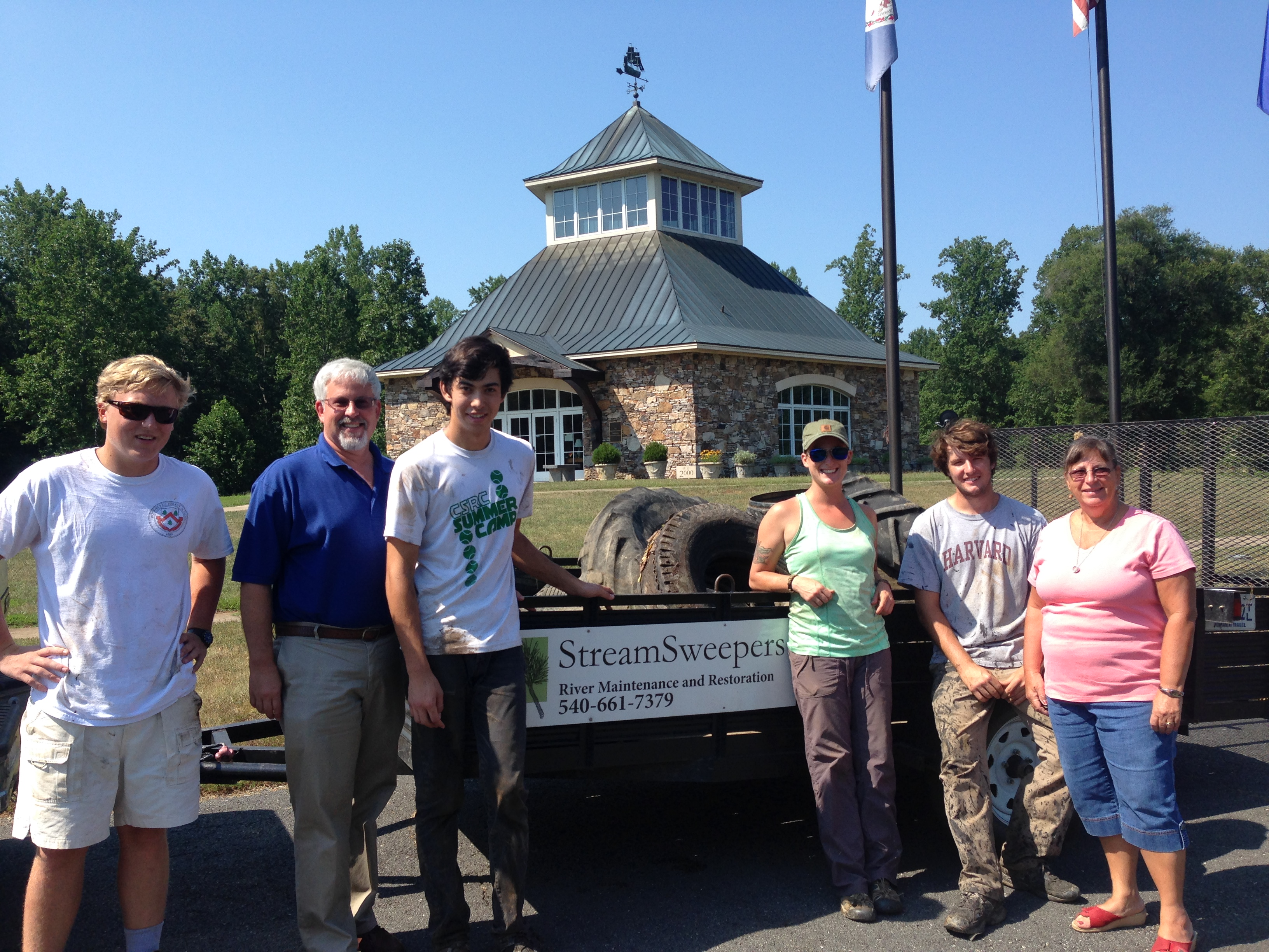 Staff of Germanna Foundation and StreamSweepers 2015 Crew, Locust Grove, VA